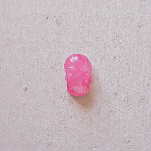silver hot pink skull gem