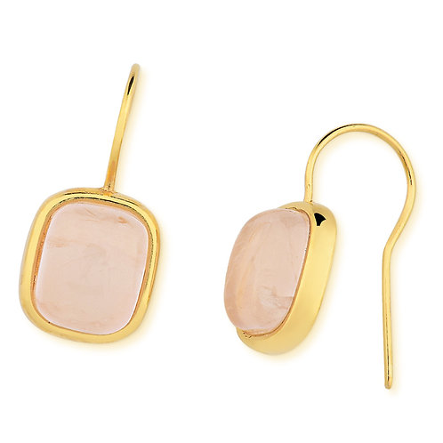 Ilhabela Rose Quartz Hook Earrings