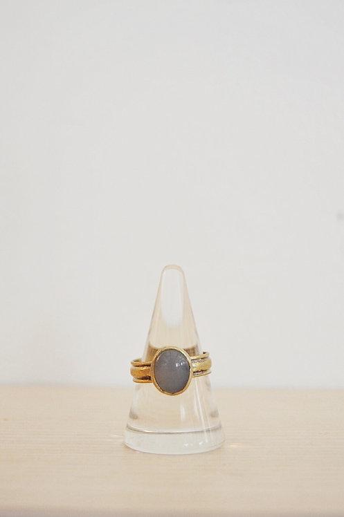 brass // clear labradorite // 10