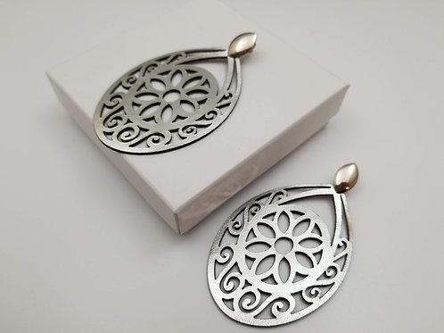 Silver Krishna Earring