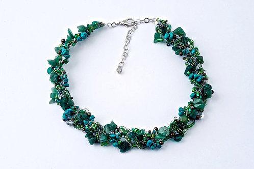 Jade Thin Crochet Necklace