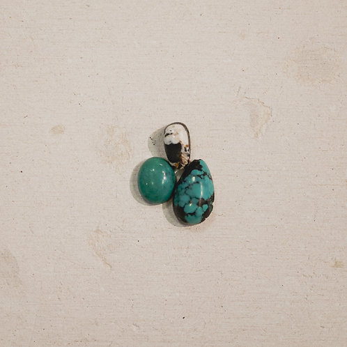silver turquoise and buffalo turquoise stacker gems