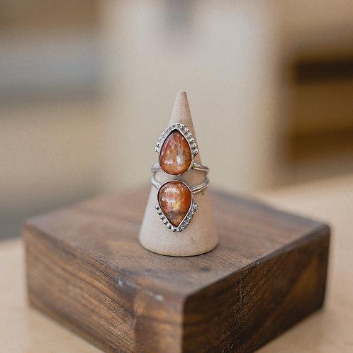 silver sunstone ring 5.75