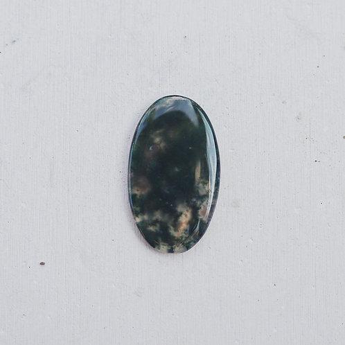 silver mossy agate gem