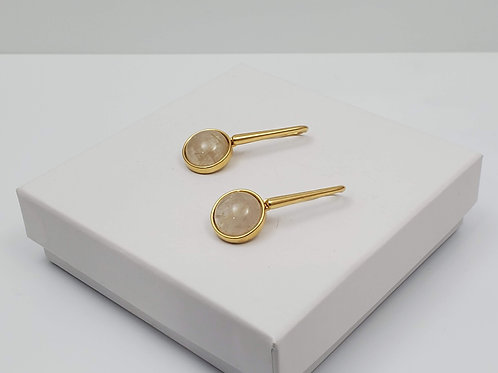 Canela rutilated quartz earring