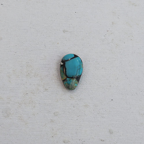 silver manufactured turquoise ring
