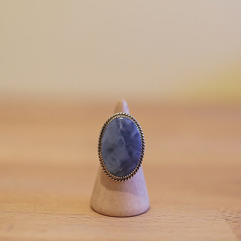silver angelite ring 7