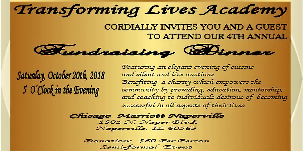 Transforming Lives Academy 4th Annual Dinner Fundraiser