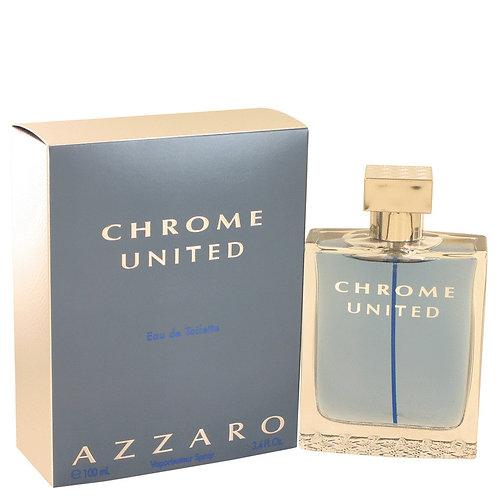 Chrome United Cologne by Azzaro 3.4 oz Eau De Toilette Spray
