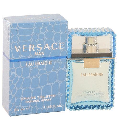 Versace Man by Versace 1 oz Eau Fraiche Eau De Toilette Spray (Blue) for men