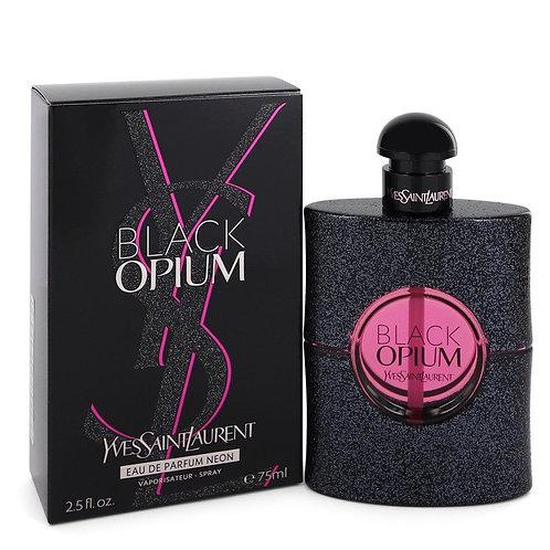 Black Opium by Yves Saint Laurent 2.5 oz Eau De Parfum Neon Spray