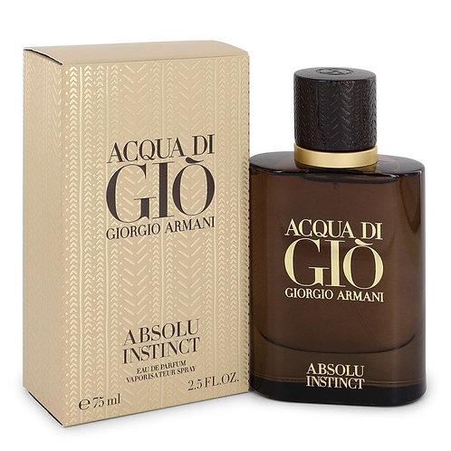 Acqua Di Gio Absolu Instinct by Giorgio Armani 2.5 oz Eau De Parfum Spray