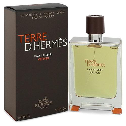 Terre D'hermes Eau Intense Vetiver by Hermes 3.3 oz Eau De Parfum Spray