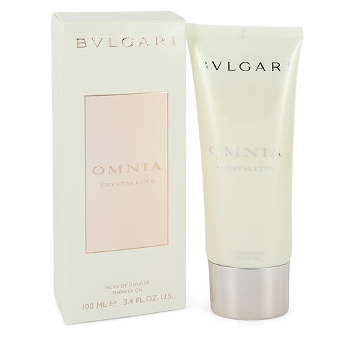 Omnia Crystalline by Bvlgari 3.3 oz Shower Oil