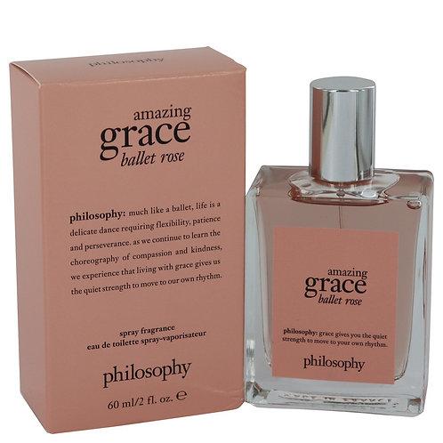 Amazing Grace Ballet Rose by Philosophy 2 oz Eau De Toilette Spray