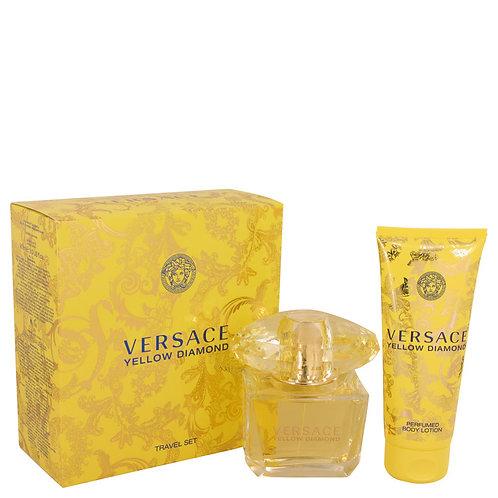 Versace Yellow Diamond Gift Set: 3oz Eau De Toilette Spray + 3.4oz Body lotion