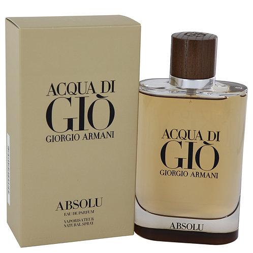 Acqua Di Gio Absolu by Giorgio Armani 4.2 oz Eau De Parfum Spray