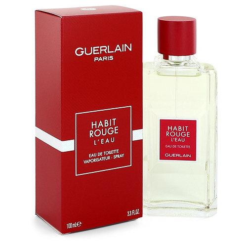 Habit Rouge L'eau by Guerlain 3.3 oz Eau De Toilette Spray