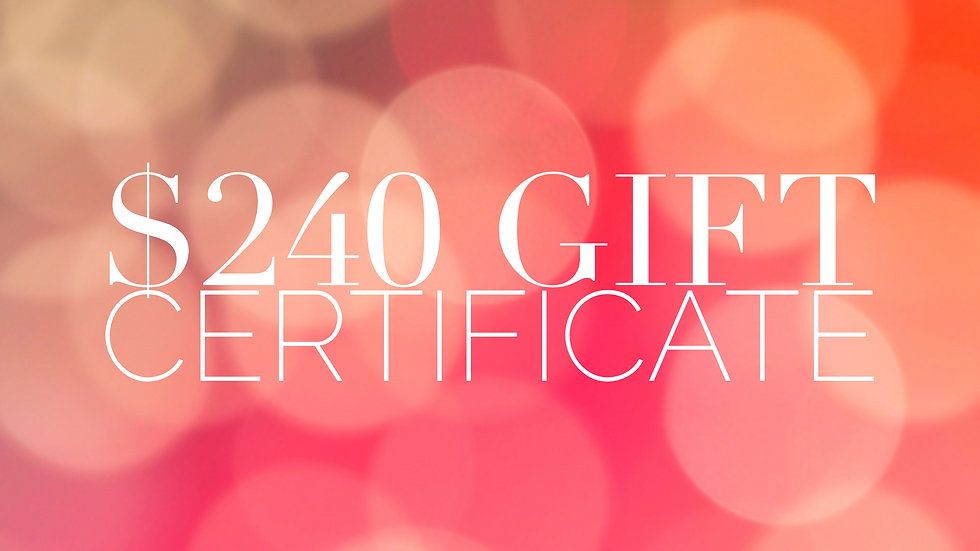 $240 Gift Certificate
