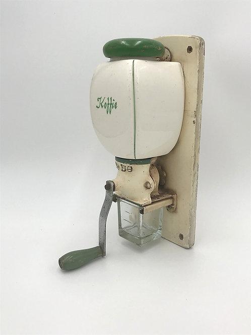 オランダ アンティークコーヒーグラインダー 緑