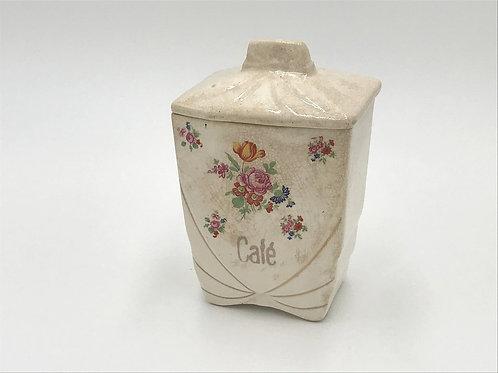 仏アンティーク陶器キャニスターCafe