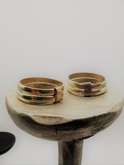 Set of two- Gold Double Stack