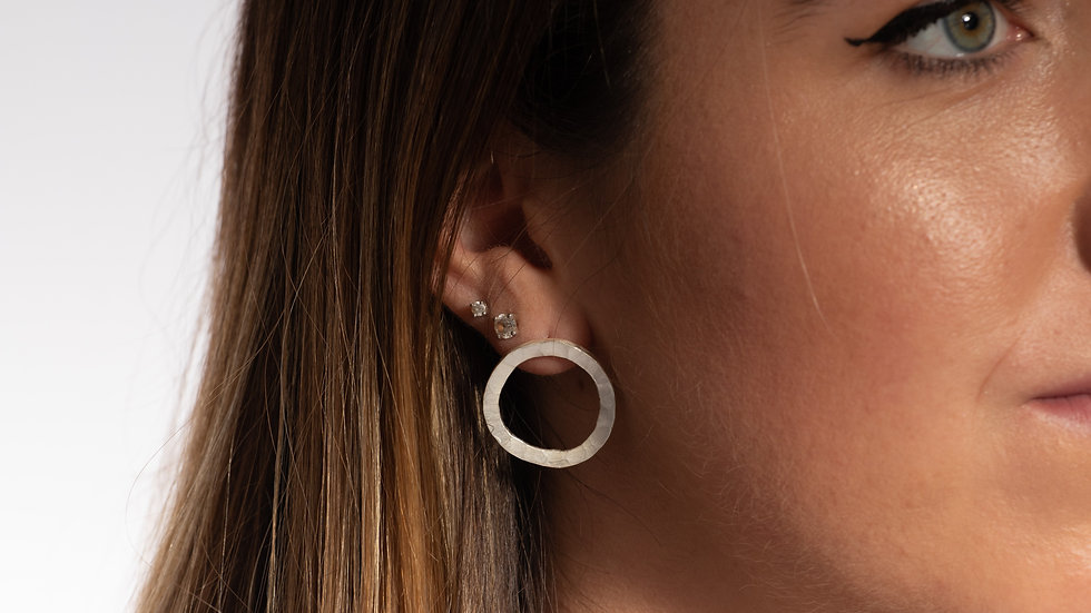 Flat Circle Earrings
