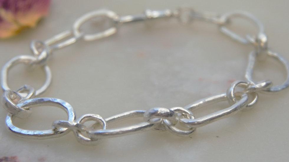 Personalised Chunky Silver Bracelet