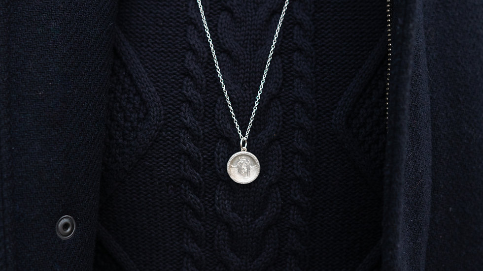 Solid Silver St Christopher