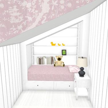 Child's Attic Bedroom