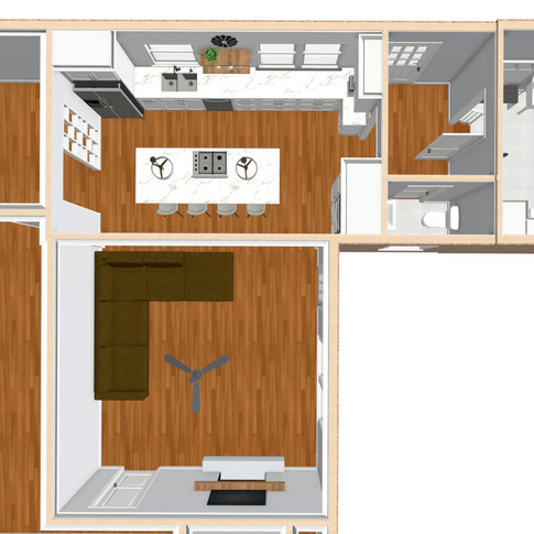 Concept Kitchen, Powder Room and Mud Room