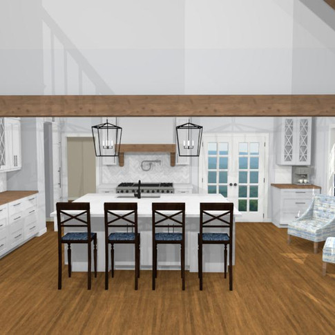 Concept Kitchen open to Family Room