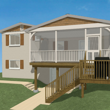 Concept Covered Porch & Painted Brick