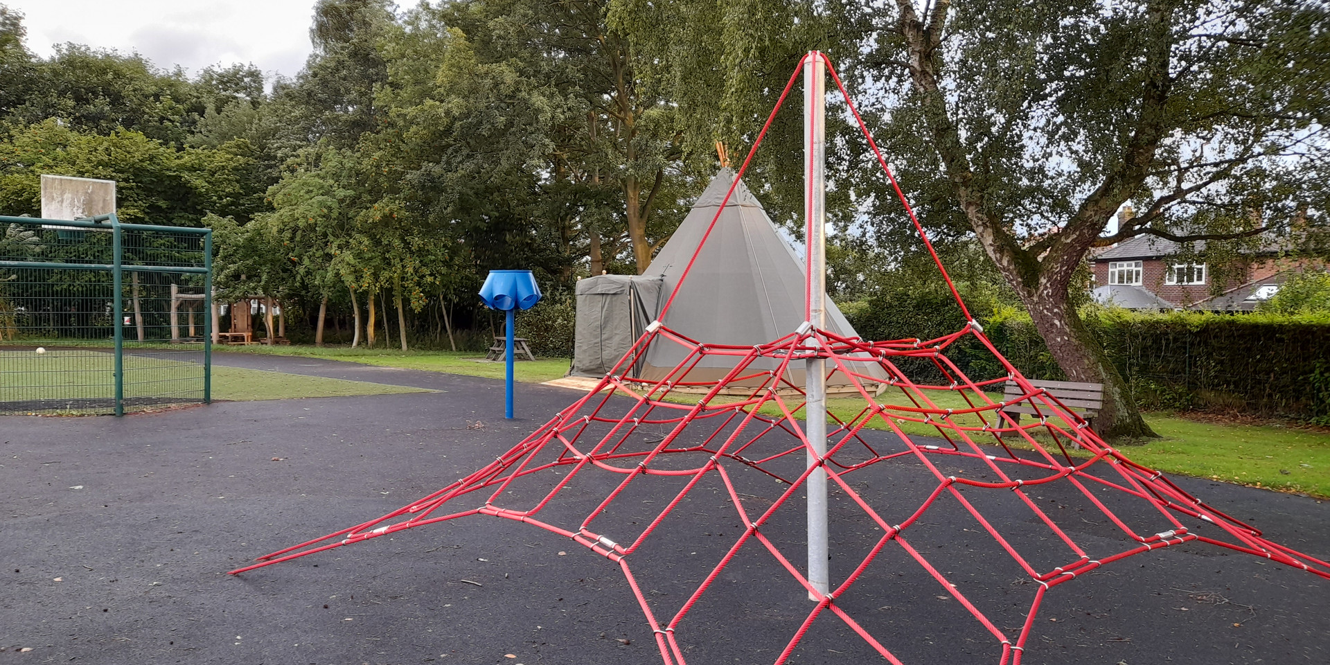 Tipi in a Playground