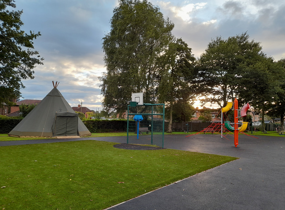 Tepee in a Playground