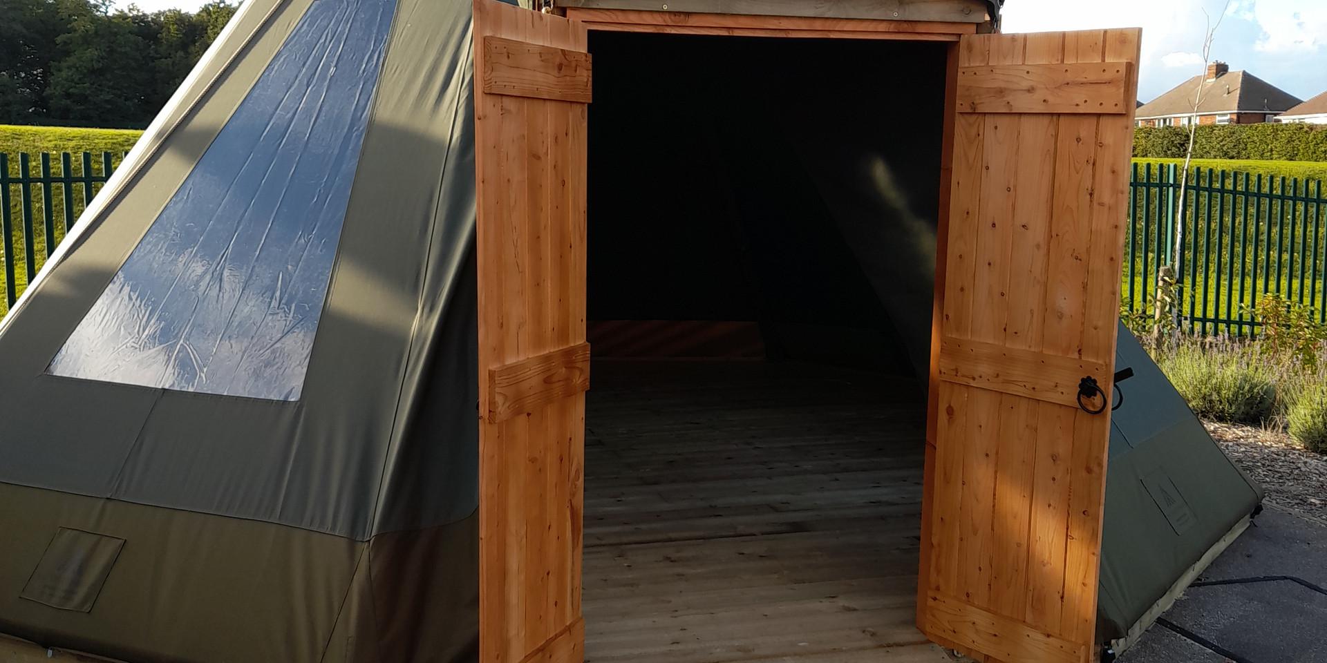 Wooden Tipi Doors