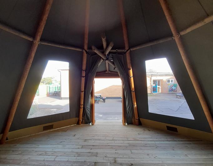 Khaki Tipi Interior