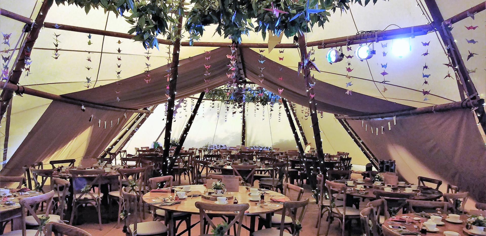 Wedding Tipis Interior