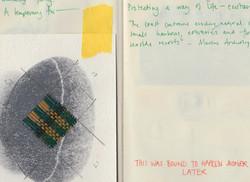 sketchbook close up