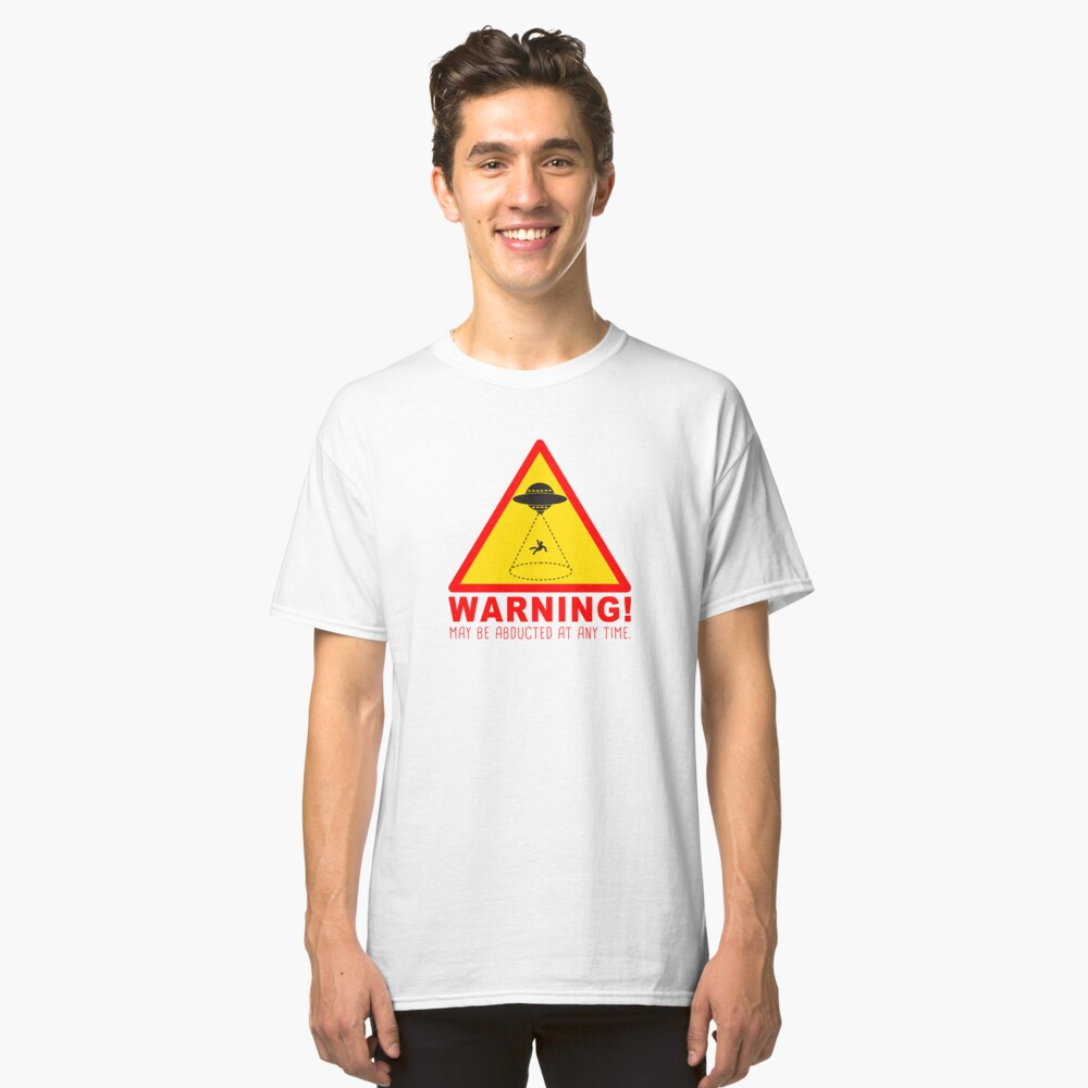 Warning Abduction Classic Tee