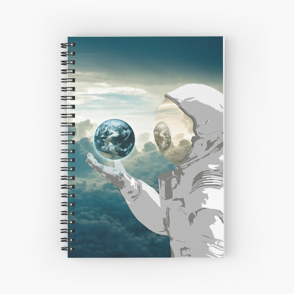 Thoughtful Spaceman Spiral Notebook