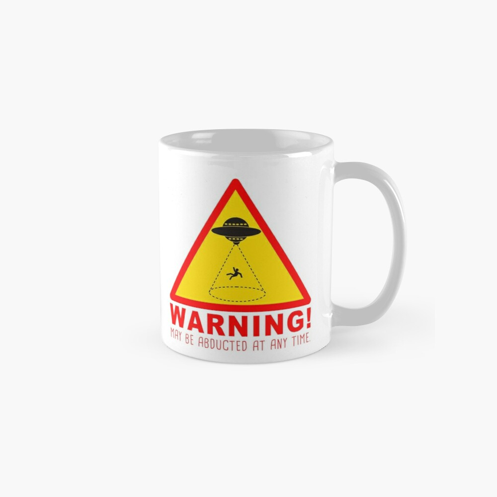 Warning Abduction Mug