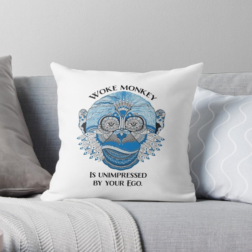 Woke Monkey Pillow