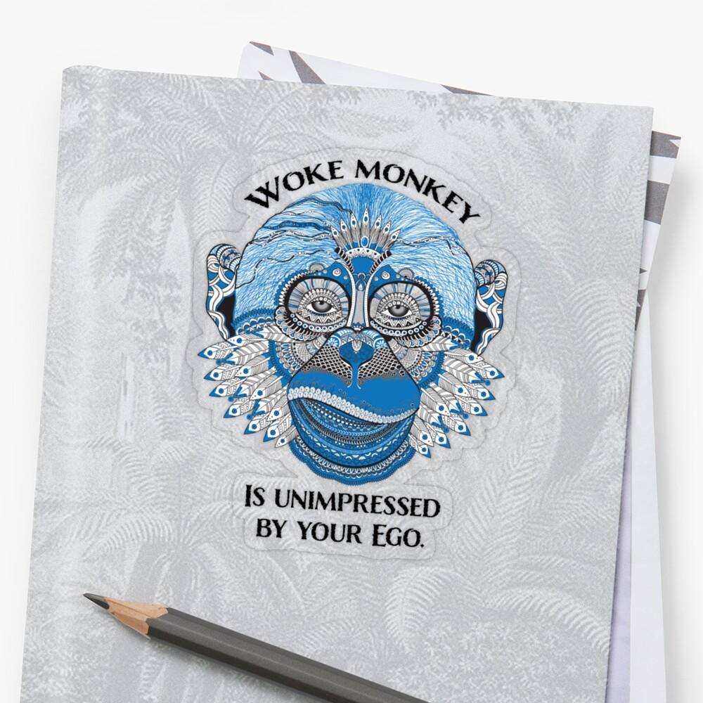 Woke Monkey Sticker