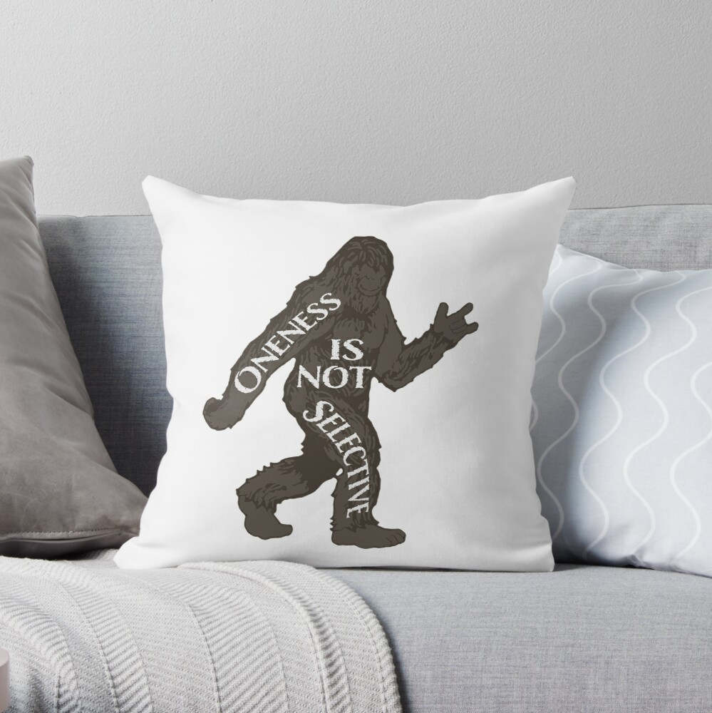 One With Sasquatch Pillow