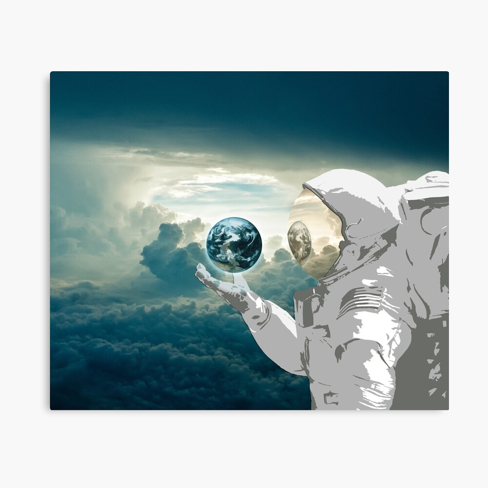 Thoughtful Spaceman Canvas Print