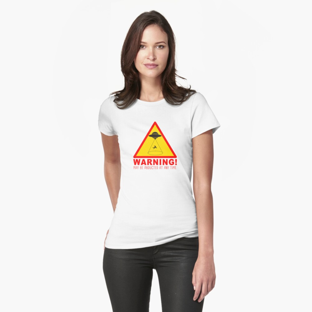 Warning Abduction Slim Fit Tee