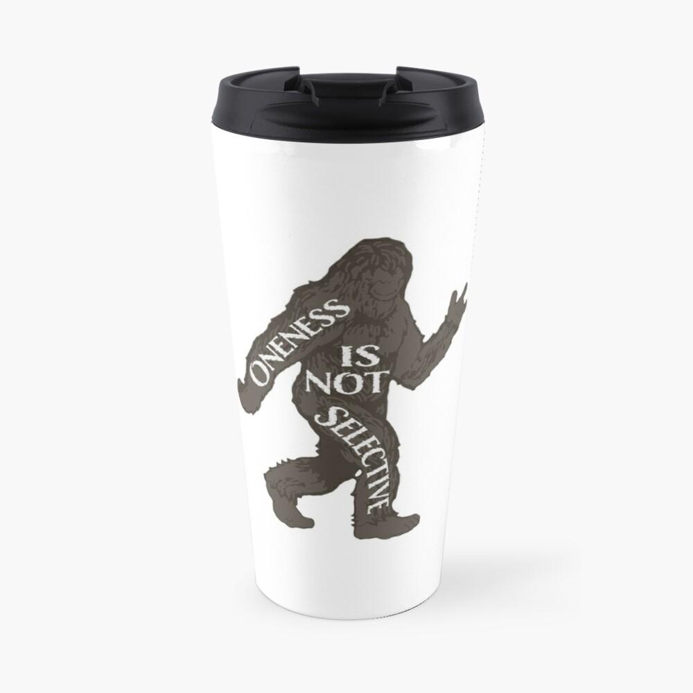 One With Sasquatch Travel Mug