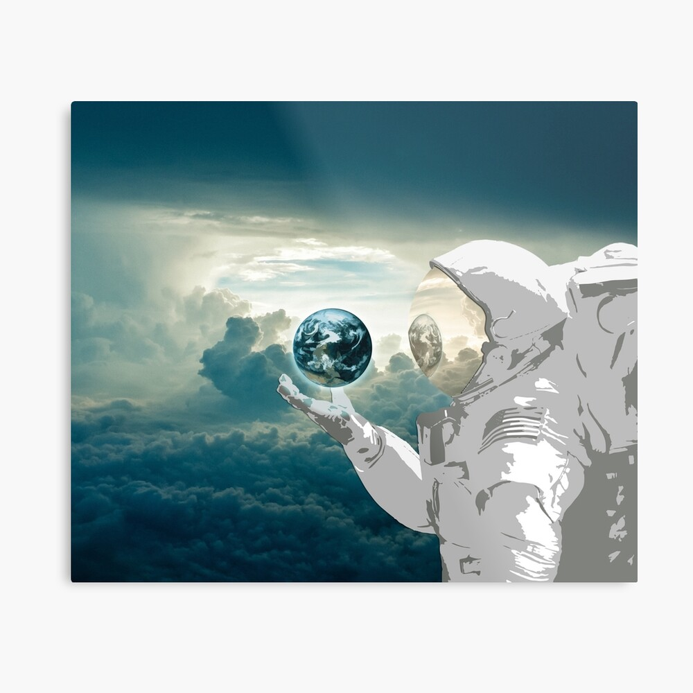 Thoughtful Spaceman Metal Print