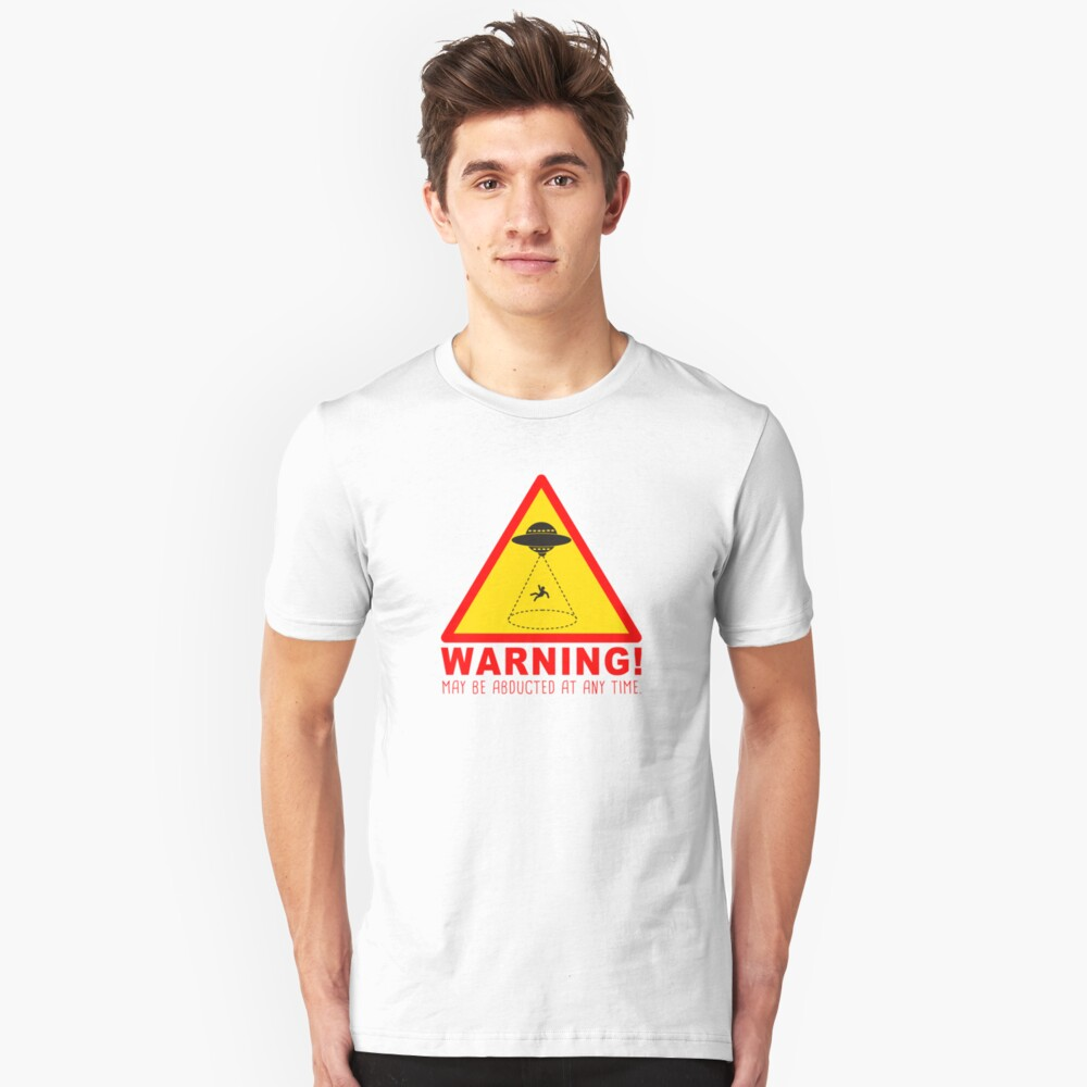 Warning Abduction Silm Fit Tee